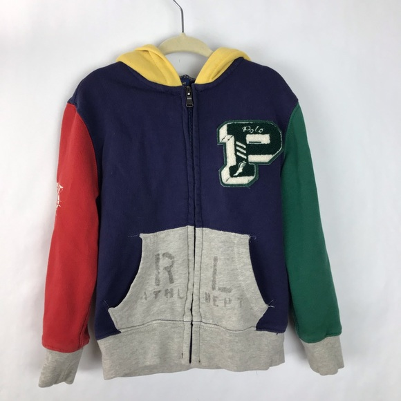 Polo by Ralph Lauren Other - Polo Ralph Lauren hoodie multicolored varsity 4t
